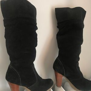 Shoes - Block heel slouch boots